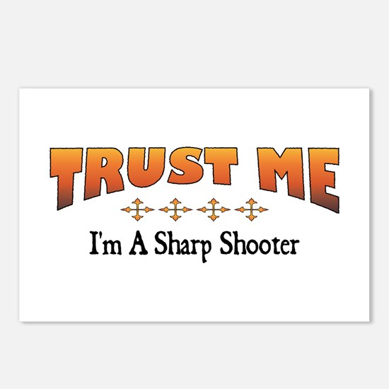 Trust Sharp Shooter Postcards (Package of 8)
