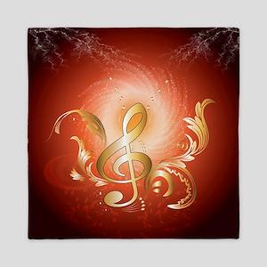 Golden clef Queen Duvet