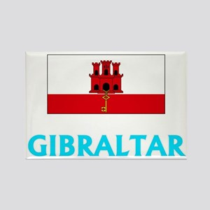 Gibraltar Flag Classic Blue Design Magnets
