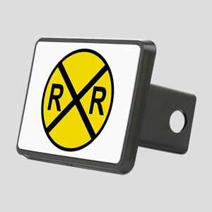 Railroad Crossing Sign Rectangular Hitch Cover