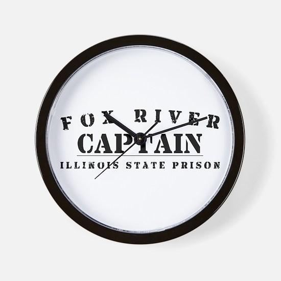 Captain - Fox River Wall Clock