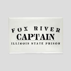 Captain - Fox River Rectangle Magnet