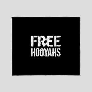 Free Hooyahs Throw Blanket