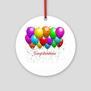 Congratulations Balloons Ornament (Round)
