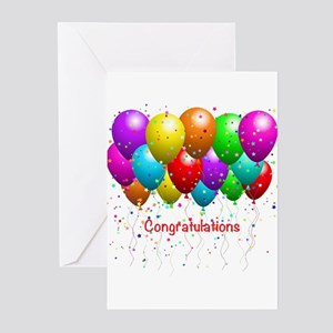 Congratulations Balloons Greeting Cards