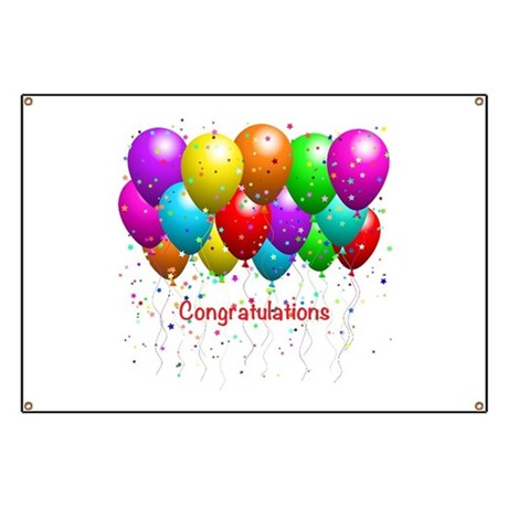 congratulations balloons banner by alittlebitofthis1