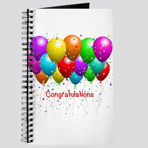 Congratulations Balloons Journal