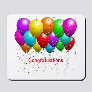 Congratulations Balloons Mousepad