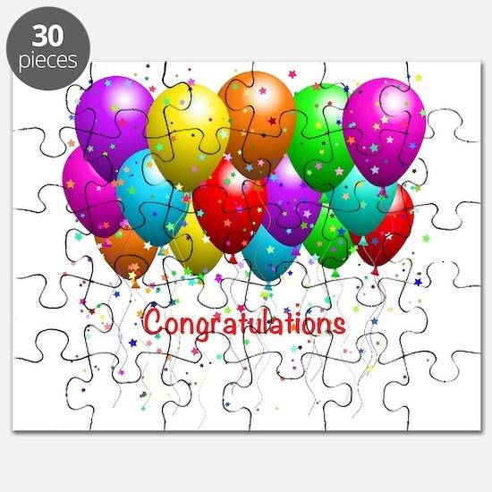 Congratulations Balloons Puzzle