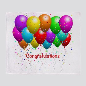 Congratulations Balloons Throw Blanket