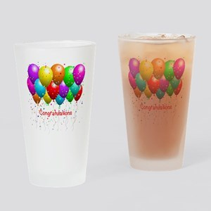 Congratulations Balloons Drinking Glass