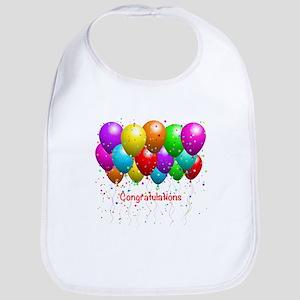Congratulations Balloons Bib