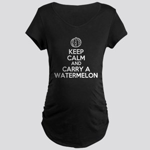 Keep Calm and Carry Watermelon Maternity T-Shirt