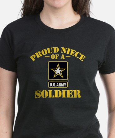 Proud Niece U.S. Army Women's Dark T-Shirt