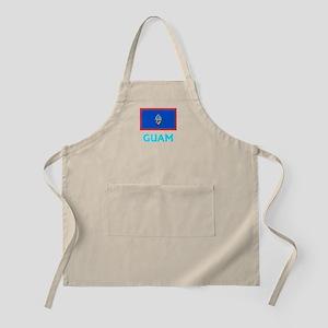 Guam Flag Classic Blue Design Light Apron