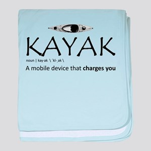 Kayak, A Mobile Device That Charges Y baby blanket