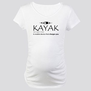 Kayak, A Mobile Device That Char Maternity T-Shirt