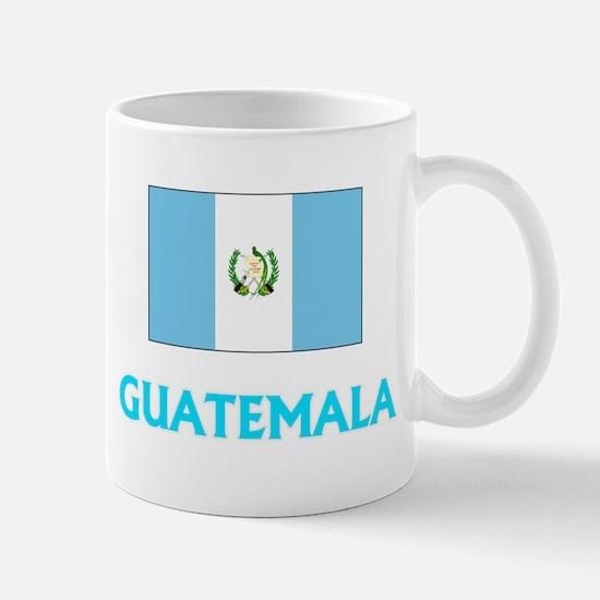 Guatemala Flag Classic Blue Design Mugs