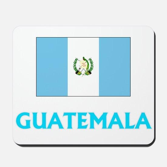 Guatemala Flag Classic Blue Design Mousepad