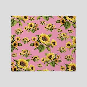 Sunflowers Dreams Throw Blanket