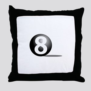 8 ball pool Throw Pillow