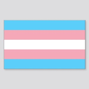 Transgender Pride Flag Sticker (Rectangle)
