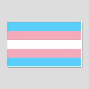 Transgender Pride Flag 20x12 Wall Decal