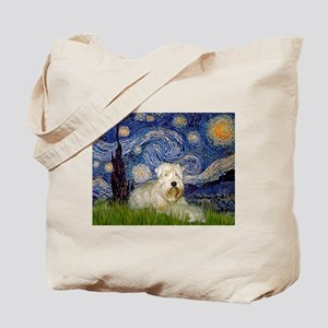 Starry Night & Wheaten Terrier Tote Bag
