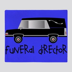 Funeral director puzzle blue.PNG Throw Blanket