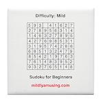 Sudoku for Beginners Tile Coaster