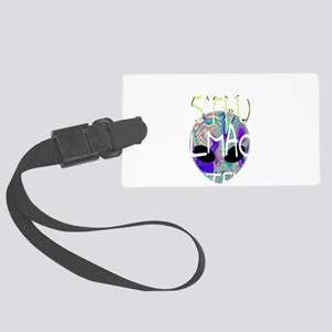 Cussing alien Large Luggage Tag