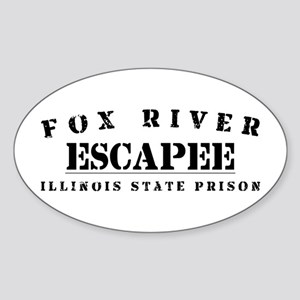 Escapee - Fox River Oval Sticker