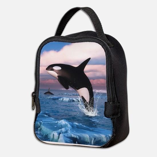 Killer Whales In The Arctic Ocean Neoprene Lunch B