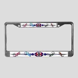 Gecko Banner License Plate Frame