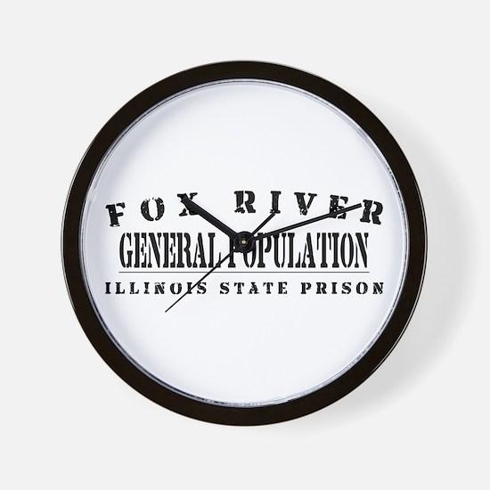 General Population - Fox River Wall Clock