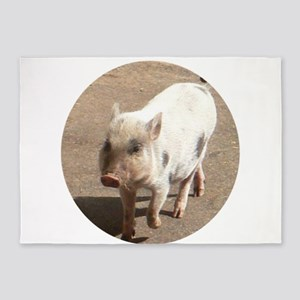 Cute MINI PIG 5'x7'Area Rug