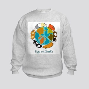 Pigs on Earth Kids Sweatshirt