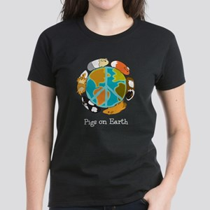 Pigs on Earth Women's Dark T-Shirt