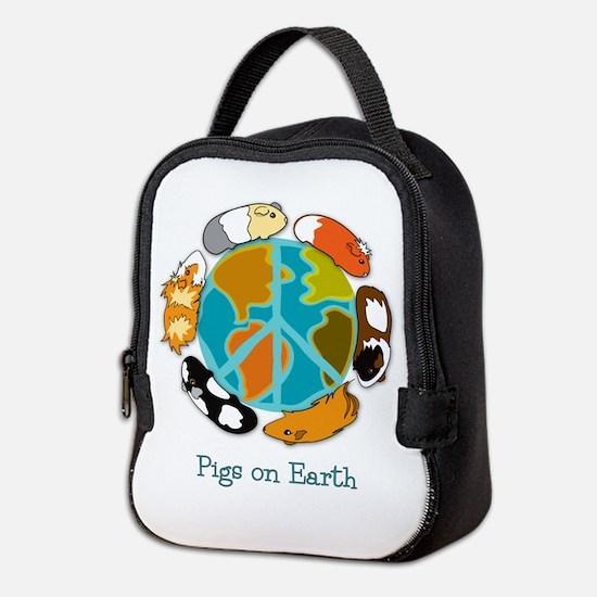 Pigs on Earth Neoprene Lunch Bag