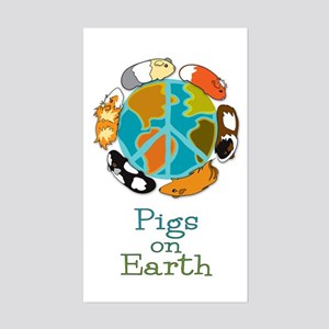 Pigs on Earth Rectangle Sticker