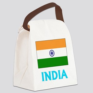 India Flag Classic Blue Design Canvas Lunch Bag
