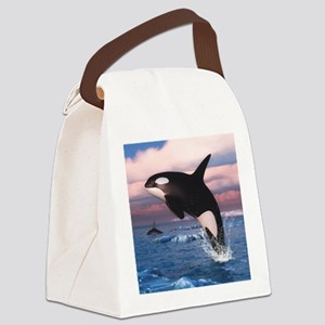 Killer Whales In The Arctic Ocean Canvas Lunch Bag