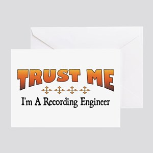 Trust Recording Engineer Greeting Cards (Package o