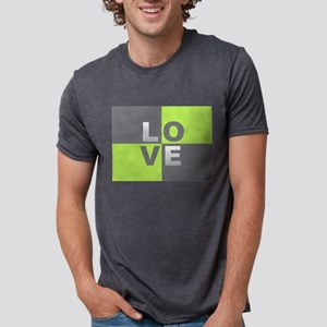 LOVE - Chartreuse and Gray T-Shirt