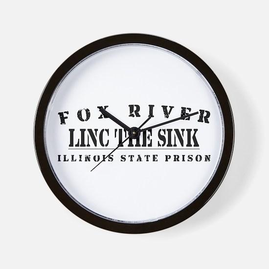 Linc the Sinc - Fox River Wall Clock