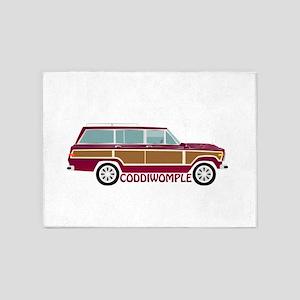 Coddiwomple Wagon 5'x7'Area Rug