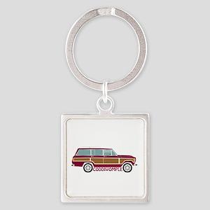 Coddiwomple Wagon Square Keychain