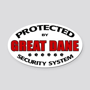 Great Dane Security Oval Car Magnet