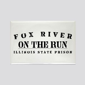 On The Run - Fox River Rectangle Magnet