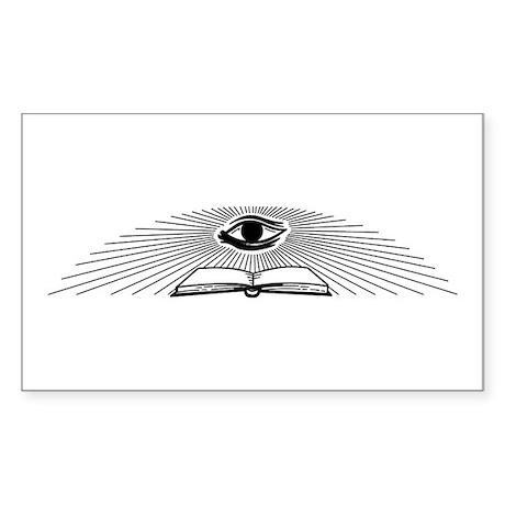 Masonic Eye Of Providence Rectangle Sticker
